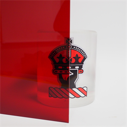 Acrylic Sheet 6mm 2423 Red Transparent Cast