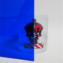 Acrylic Sheet 3mm 2424 Blue Transparent Cast
